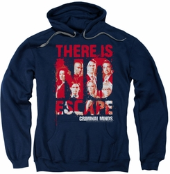 Criminal Minds pull-over hoodie No Escape adult navy