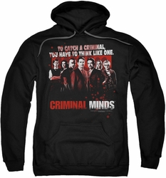 Criminal Minds pull-over hoodie Think Like One adult black