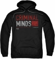 Criminal Minds pull-over hoodie Title Card adult black