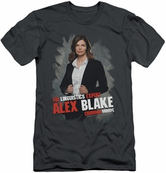 Criminal Minds slim-fit t-shirt Alex Blake mens charcoal