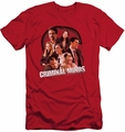 Criminal Minds slim-fit t-shirt Brain Trust mens red