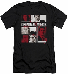Criminal Minds slim-fit t-shirt Character Boxes mens black