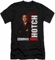Criminal Minds slim-fit t-shirt Hotch mens black