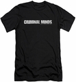 Criminal Minds slim-fit t-shirt Logo mens black