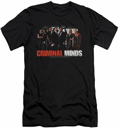 Criminal Minds slim-fit t-shirt The Brain Trust mens black