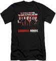Criminal Minds slim-fit t-shirt Think Like One mens black