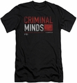 Criminal Minds slim-fit t-shirt Title Card mens black