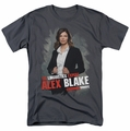 Criminal Minds t-shirt Alex Blake mens charcoal