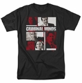 Criminal Minds t-shirt Character Boxes mens black
