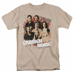 Criminal Minds t-shirt Solution Lies Within mens sand