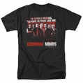 Criminal Minds t-shirt Think Like One mens black
