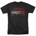 Criminal Minds t-shirt Title Card mens black