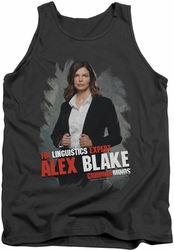 Criminal Minds tank top Alex Blake mens charcoal