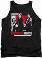 Criminal Minds tank top Guns Drawn mens black