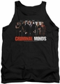 Criminal Minds tank top The Brain Trust mens black