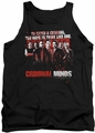 Criminal Minds tank top Think Like One mens black