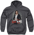 Criminal Minds youth teen hoodie Alex Blake charcoal