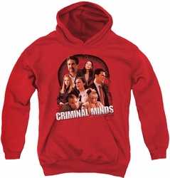Criminal Minds youth teen hoodie Brain Trust red