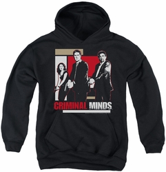 Criminal Minds youth teen hoodie Guns Drawn black