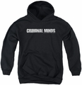 Criminal Minds youth teen hoodie Logo black