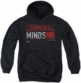 Criminal Minds youth teen hoodie Title Card black