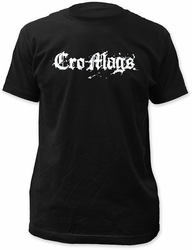 Cro-Mags logo fitted jersey tee mens black pre-order