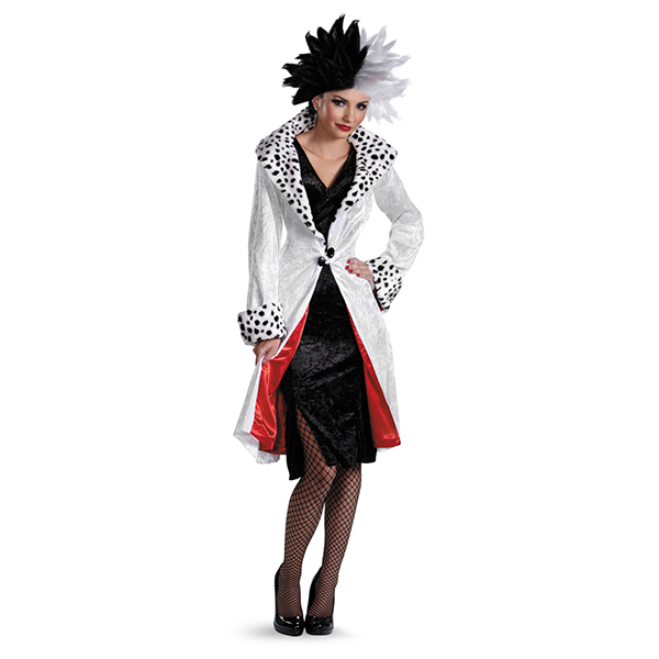 cruella de vil prestige adult costume from disney. Black Bedroom Furniture Sets. Home Design Ideas