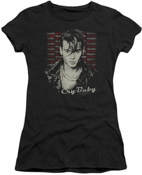 Cry Baby juniors t-shirt Drapes & Squares black
