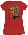 Cry Baby juniors t-shirt Kiss Me red
