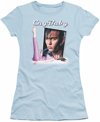 Cry Baby juniors t-shirt Title light blue
