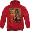 Cry Baby pull-over hoodie Kiss Me adult red