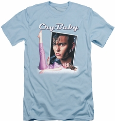 Cry Baby slim-fit t-shirt Title mens light blue
