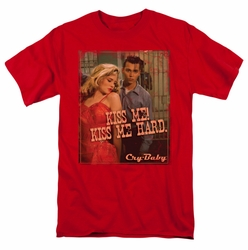 Cry Baby t-shirt Kiss Me mens red