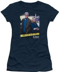 CSI juniors t-shirt Do Not Cross navy
