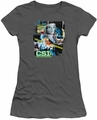CSI juniors t-shirt Evidence Collage charcoal