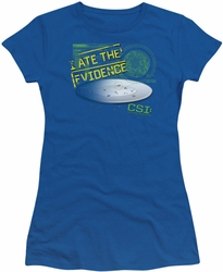 CSI juniors t-shirt I Ate The Evidence royal