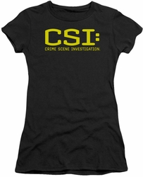 CSI juniors t-shirt Logo black