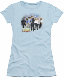 CSI juniors t-shirt Miami Cast light blue