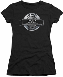CSI juniors t-shirt Rendered Logo black