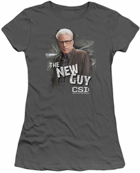 CSI juniors t-shirt The New Guy charcoal