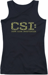 CSI juniors tank top Collage Logo black
