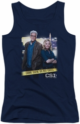CSI juniors tank top Do Not Cross navy
