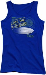 CSI juniors tank top I Ate The Evidence royal