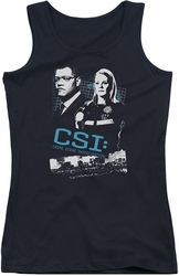 CSI juniors tank top Investigate This black