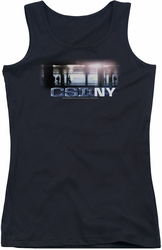 CSI juniors tank top New York Subway black