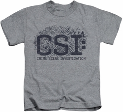 CSI kids t-shirt Distressed Logo heather