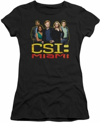 CSI Miami juniors t-shirt The Cast In Black black