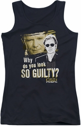 CSI Miami juniors tank top So Guilty black