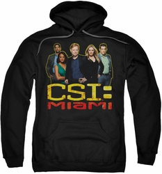 CSI Miami pull-over hoodie The Cast In Black adult black