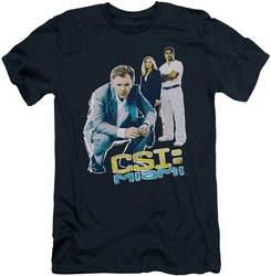 CSI Miami slim-fit t-shirt In Perspective mens navy